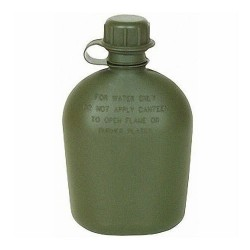 Canteen, Water 1Qt w/strap-on plain cap NSN 8465-00-889-3744