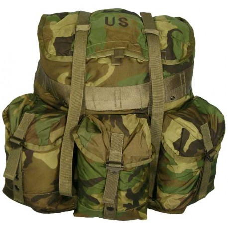 alice medium rucksack lc 1 woodland camo with frame nsn 8465 01 - Military Rucksack With Frame