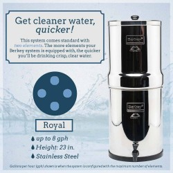 Royal Berkey® System (3.25 gal) with 4 Filters