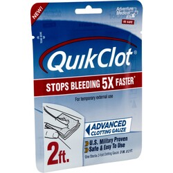 "QuikClot Advanced Clotting Gauze 3"" x 24"" (2)"
